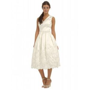 NWT CHI CHI Bridal Wedding Guest Prom Ivory Dress